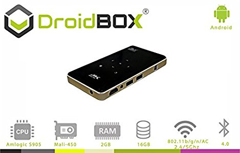 DroidBOX GO V3 Android 6 : The Go projector is a great piece of
